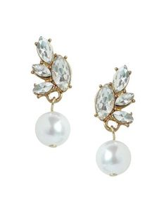 olive + piper Amelia Pearl Drop Earrings