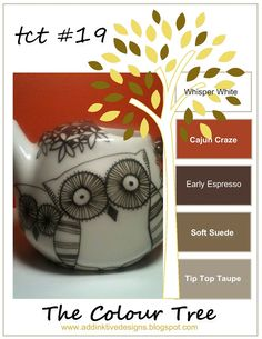 addINKtive designs: The Colour Tree #19 - Whisper White, Cajun Craze, Early Espresso, Soft Suede and Tip Top Taupe