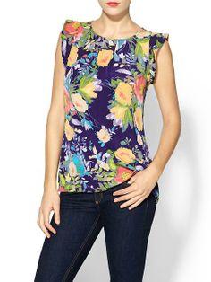 Pim + Larkin Floral Blouse | Piperlime