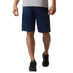 Men's Adidas Climalite Shorts, Blue (Navy)
