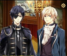Midnight Cinderella Game~ Reminded me of adult Ciel and Aloise from Black Butler