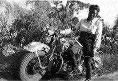 Bessie Stringfield Facts: Founder of the Iron Horse Motorcycle Club, she fought through the barriers of being a black, female motorcycle rider and became an Army motorcycle dispatch rider in WWII. She became an AMA Hall of Fame Member in Female Motorcycle Riders, Motorcycle Clubs, Motorcycle Adventure, Women Motorcycle, Vintage Bikes, Vintage Motorcycles, Thor, Harley Davidson, Motorcycle Museum