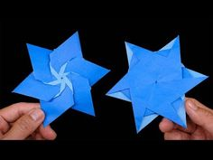 How to make 06 point - Easy origami for kids Origami Mouse, Origami Yoda, Origami Star Box, Origami Envelope, Origami Fish, Origami Butterfly, Origami Art, Oragami, Origami Simple