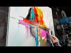 Apprendre à faire une peinture abstraite au couteau à peindre - Porcelaine - YouTube