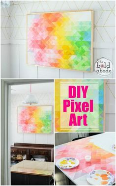 Abstract canvas wall art ideas for home decor 2 architecture abstract art ideas attractive pertaining to Puffy Paint, Art Journal Pages, Abstract Canvas Art, Canvas Wall Art, Diy Canvas, Diy Wall Art, Diy Art, Disney Art Drawings, Pixel Art