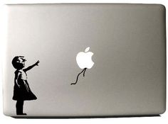 Banksy girl Macbook decal