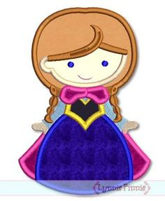 Embroidery Designs - Snow Princess Cutie 4x4 5x7 6x10 SVG - Welcome to Lynnie Pinnie.com! Instant download and free applique machine embroidery designs in PES, HUS, JEF, DST, EXP, VIP, XXX AND ART formats.