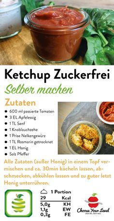 Low Carb Ketchup ohne Zucker - Choose Your Level™ Paleo Ketchup, Low Carb Ketchup, Love Food, A Food, Food And Drink, Low Carb Burger, Dinner Sandwiches, Food To Make, Food Processor Recipes