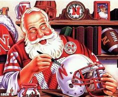 Yup, even the Big Guy is a Husker why else would the colors that he wears be Scarlet and Cream?