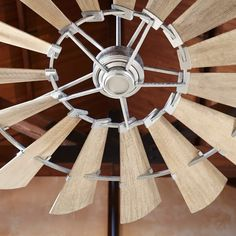 Quorum International Galvanized Windmill 15 Blade Hanging Indoor Ceiling Fan with Reversible Motor, and Blades