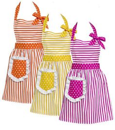 Girls wear matching aprons for stagette Cute Aprons, Sewing Aprons, Aprons Vintage, Sewing Hacks, How To Look Pretty, Ideias Fashion, My Style, How To Wear, Clothes