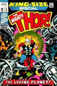 Thor Annual #4, december 1971, cover by Jack Kirby and Vince Colletta.