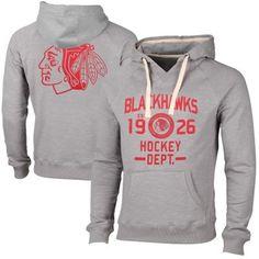 Mens Chicago Blackhawks Gray Solace Slub Pullover Hoodie