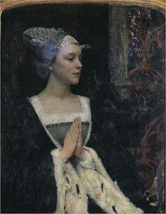 Serenite -1912- Edgar Maxence (french painter)-symbolism