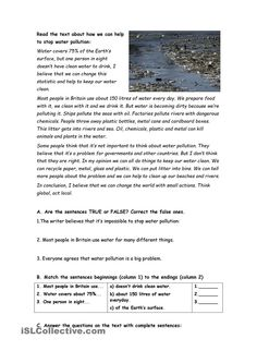 essay on pollution for class 10