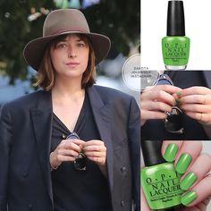 "1,280 Me gusta, 2 comentarios - Dakota Johnson (@dakotajolhnson) en Instagram: ""@dakotajohnson was spotted in Los Angeles. @dakotajohnson may wear @opi_products nail polish green…"""