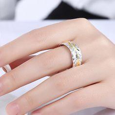 #ElegantRing Leaves #SilverPlated #Ring
