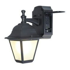 hampton bay exterior wall lantern with built in electrical outlet gfci. black outdoor light fixture porch patio exterior sconce outlet wall lamp new hampton bay lantern with built in electrical gfci 1