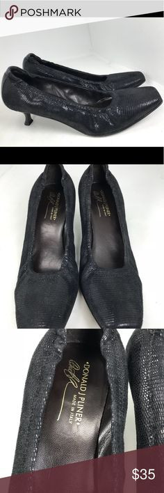 Donald pliner Black Kitten Heels Square Toe 9.5 Has some wear, marks, and scratches. See all photos. Donald J. Pliner Shoes Heels