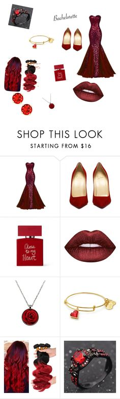 """""""red 👄👄👄👄"""" by naquawilliams ❤ liked on Polyvore featuring Bella Freud and Lime Crime"""