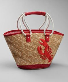 Love this Red Lobster Rope Tote by Straw Studios on #zulily! #zulilyfinds