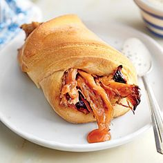 BBQ in a Blanket with Buttermilk-Ranch Sauce | MyRecipes.com