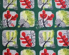 Vintage Mid Century Pinecone Barkcloth by Niesz Vintage Fabric, via Flickr