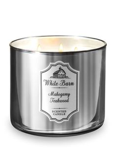 White Barn Mahogany Teakwood Candle - Bath And Body Works Bath Candles, 3 Wick Candles, Scented Candles, Candle Jars, Trimming Dog Nails, White Barn, Bath And Body Works, Wicked, Fragrance