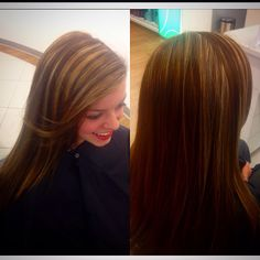 All over redken chromatics color and flash lift highlights with a toner. Love my job