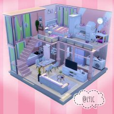 You rule in The Sims Create new Sims with big personalities and distinct appearances. Control the mind, body, and heart of your Sims and play with life in The Sims Sims 4 House Plans, Sims 4 House Building, Home Building Design, Sims 4 House Design, Tiny House Design, Sims 4 Loft, Casas The Sims 4, Sims 4 Cc Furniture, Sims 4 Build