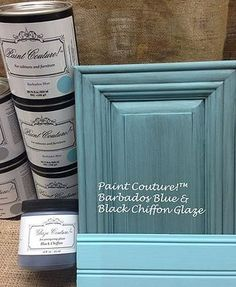 Paint Couture is a low-VOC, water-based acrylic paint available in 27 colors. It is a self-priming, décor, furniture and cabinet paint. Antique Kitchen Cabinets, Painting Kitchen Cabinets, Kitchen Cabinetry, Kitchen Paint, Kitchen Redo, Bathroom Cabinets, Updating Cabinets, Rustic Cabinets, Glazing Cabinets