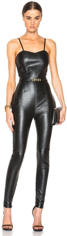 Shop for Leather Jumpsuit by Saint Laurent at ShopStyle. Now for Sold Out.