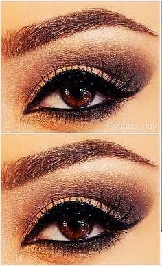 See the picz: Eye make up for brown eyes No matter how much I try, can't get my eye makeup to look this nice. @Nina Askew