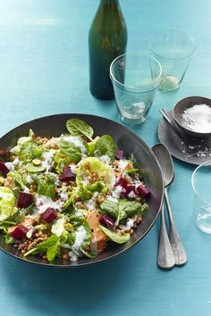 Greens and Grain Salad #myplate #salad #grains