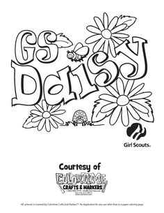 coloring pictures of girl scouts daisy images of to print just the image right click