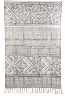 House Doctorin etnistyylinen kuvioitu Spring -matto on hillityn tyylikäs.Puuvillamatto on käsinkudottu ja sen päissä on kivat hapsut. Koko: 180 x 180 cm Väri: Harmaa/valkoinen Materiaali: 81% puuvilla, 14% polyesteri, 5% viskoosi Hoito-ohje: Tahranpoisto käsin, ei vesipesua