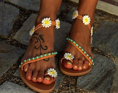 Nuziale greco Sandali sandali di lussuosi sandali sandali