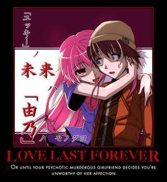 Future Diary Demotivational | Send Message: Manga Art, Manga Anime, Yuno Mirai Nikki, Future Memes, Mirai Nikki Future Diary, Anime Motivational Posters, Yuno Gasai, Yandere Simulator, Wattpad