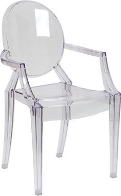 $100 Philippe Starck Louis Ghost Style Transparent Arm Chair | | Contemporary Furniture Warehouse