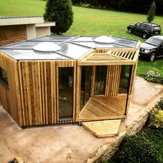 """These are two models of the Hivehaus Beehive-Inspired Tiny Modular Home. They are built in the UK and start at £13,775 (or around $17,000) for the single """"hive."""" Please enjoy, learn mor…"""