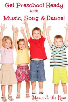 Get Preschool Ready with Music, Song and Dance. Teach basic preschool skills through catchy children's songs. Playlists and videos inside.  Click to read more or pin and save to read later.