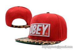 Obey Leopard Strapback Red|only US$8.90,please follow me to pick up couopons.
