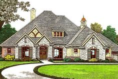 House Plan 310-975 Media and game room up.