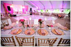 Millennium Park Rooftop Terrace Wedding guest table