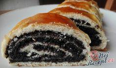Nejlepší makové záviny jako od babičky   NejRecept.cz Sweet Desserts, Sweet Recipes, Dessert Recipes, Challa Bread, Poppy Cake, Bread Dough Recipe, Strudel, Doughnut, Food And Drink
