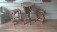 Pub Table And chairs from Reclaimed Wine by OtterbrookDesign, $399.00