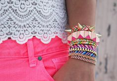 Lace. Pink. Arm Candy