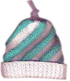 swirled cap pattern. When this is knit with different colors it looks like a cupcake with lots of icing.