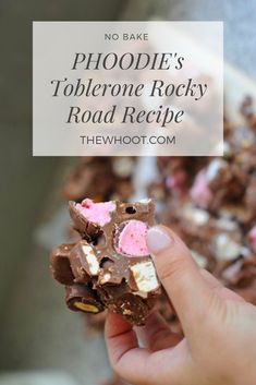 This yummy Toblerone Rocky Road is every chocolate lover's dream come true! Full of delicious nougat, almonds, marshmallow and more, it's a must-try! Cadbury Milk Chocolate, Chocolate Lovers, Melting Chocolate, Hot Chocolate, Sweet Desserts, Just Desserts, Sweet Recipes, Candy Recipes, Christmas Fudge