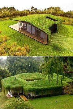 : Another good idea for a hideout in the green house is this Geolodge. Harder to detect its thermal signature, and acts as an excellent hide. Architecture Durable, House Architecture Styles, Modern Architecture House, Architecture Design, Green House Design, Modern House Design, Earthship Home, Casas Containers, Underground Homes